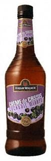 Hiram Walker Liqueur Creme de Cassis 750ml - Case of 12